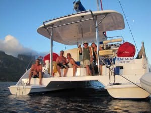 stern catamaran