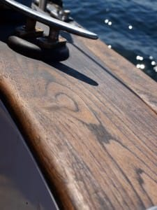 cleat on teak
