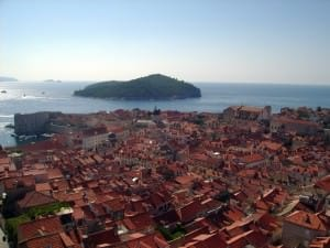 View of Dubrovnik from City Walls