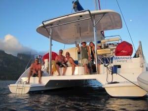 fun on a catamaran