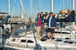 ASA sailors at the dock at the Pine Island Sound flotilla
