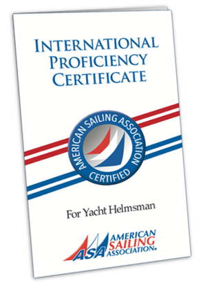 ASA International Certificate of competence