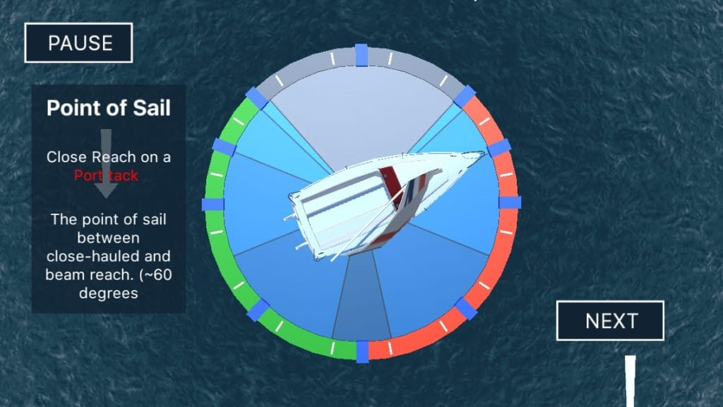 Sailing Challenge App - Points of Sail