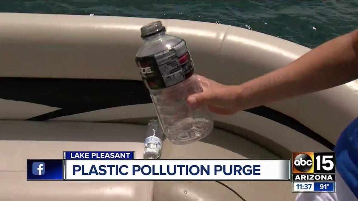Plastic Pollution Purge: ABC 15 with Clint Sutter from Go Sail Arizona in Lake Pleasant, AZ