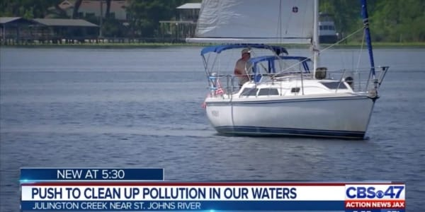 Plastic Pollution Purge: CBS 47 with Don Stokes from The Sailboat Club in Jacksonville, Florida