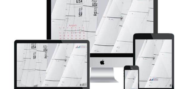 ASA Desktop Wallpaper Sailing Calendar - August 2018
