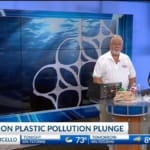 Plastic Pollution Purge: NBC 4 with Roger Nesuda from Jolly Roger's Marina in Roland, Arkansas