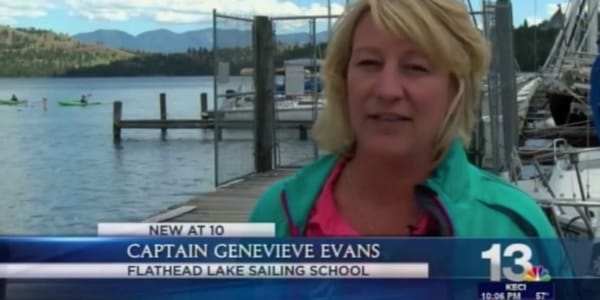 KECI (NBC 13) with Genevieve Evans from Flathead Lake Sailing School in Dayton, Montana