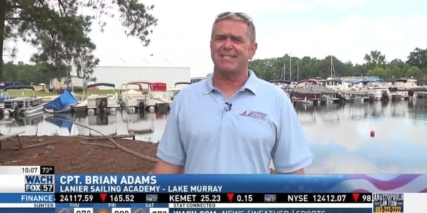 Plastic Pollution Purge: FOX 57 with Brian Adams from Lanier Sailing Academy at Lake Murray in Columbia, South Carolina