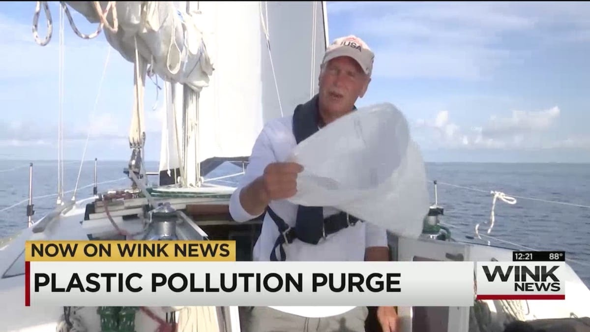 Plastic Pollution Purge: CBS 11 with Chet Shubert from Gulf Coast Sailing in Charlotte Harbor, Florida