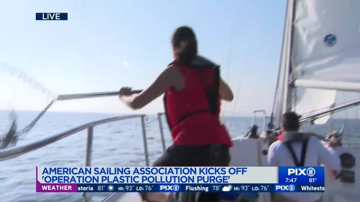 Plastic Pollution Purge: PIX 11 with Dave Jenkins from SOUL Sailing in Bronx, New York