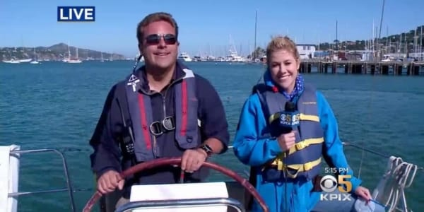 Plastic Pollution Purge: CBS 5 with Leigh Hunt from Modern Sailing School in San Francisco, California
