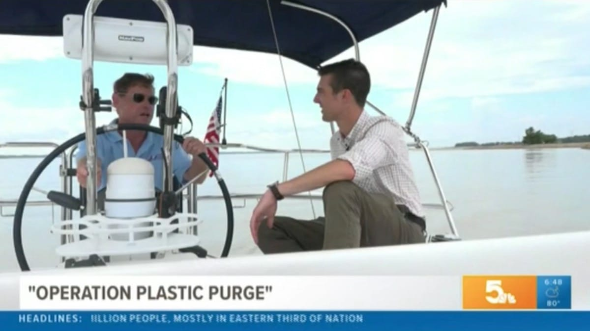 Plastic Pollution Purge: NBC 5 with Bob Weber from Odyssey Sailing School in St. Louis, Missouri.