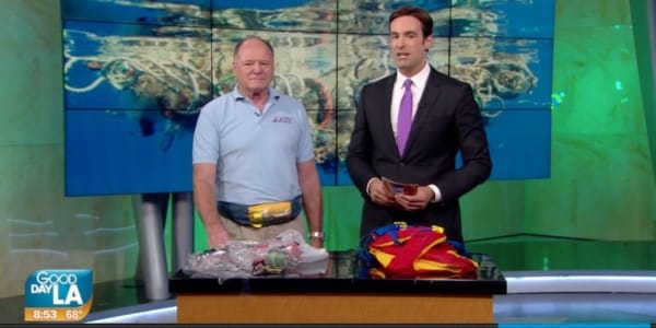 "Plastic Pollution Purge: FOX 11 and Elbert ""Ash"" Ashbaugh from the American Sailing Association in Los Angeles, California"
