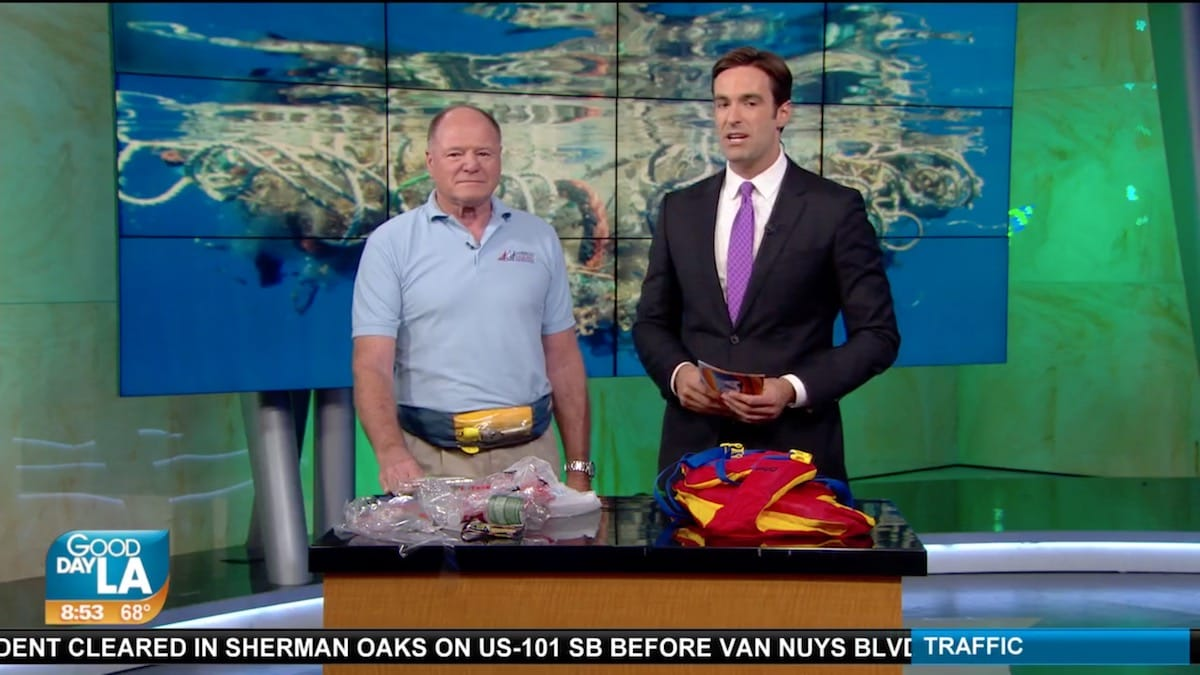 """Plastic Pollution Purge: FOX 11 and Elbert """"Ash"""" Ashbaugh from the American Sailing Association in Los Angeles, California"""