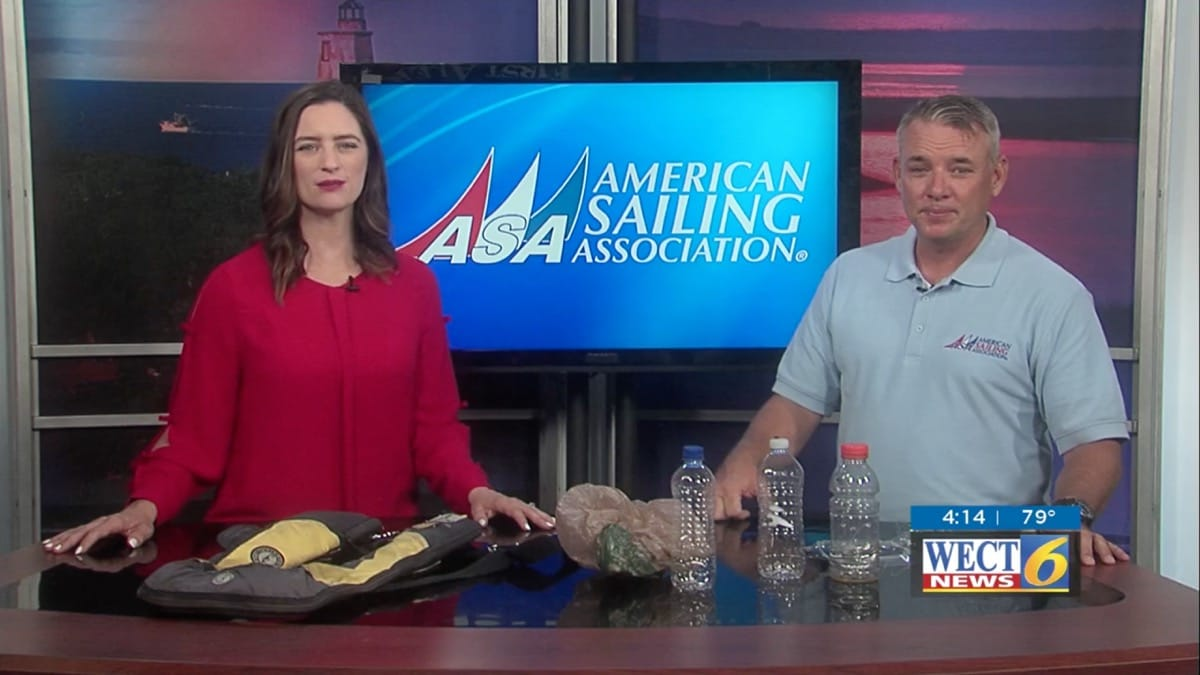 Plastic Pollution Purge // WECT // Kevin Hennessey_// Cape Fear Sailing Academy