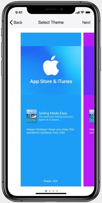 Gift ASA Textbook Via Apple Books on an iPhone
