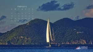 ASA Desktop Wallpaper Sailing Calendar - February 2019