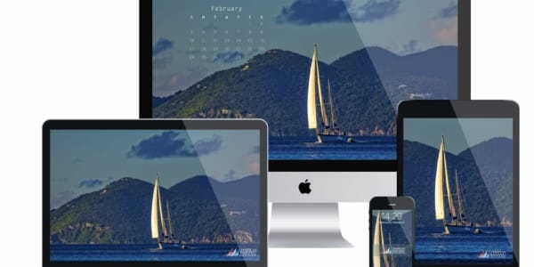 ASA Desktop Wallpaper Sailing Calendar - February 2019