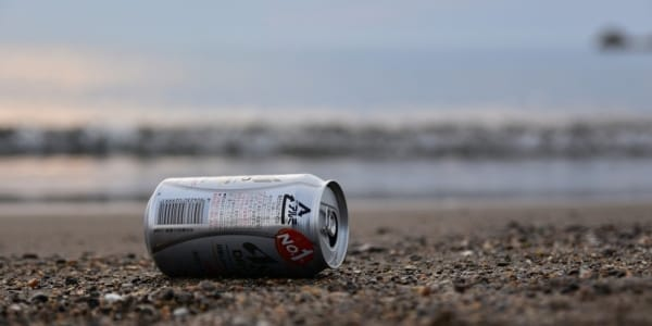ocean plastic can