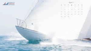 ASA Desktop Wallpaper Sailing Calendar - April 2019