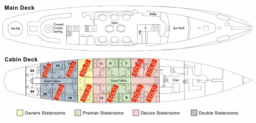 Arabella Stateroom Layout