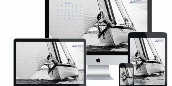 ASA Desktop Wallpaper Sailing Calendar - August 2019