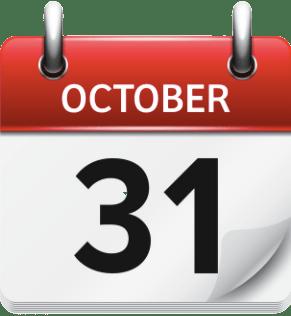 October  31st 2021